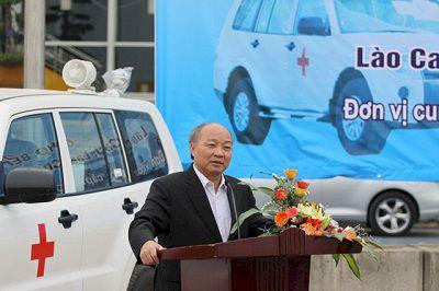 Lễ bàn giao 52 chiếc xe cứu thương cho các tỉnh miền núi Phía Bắc