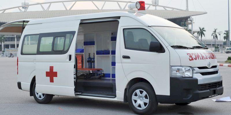 Toyota Hiace là dòng xe cứu thương